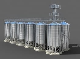 steel hopper grain silo
